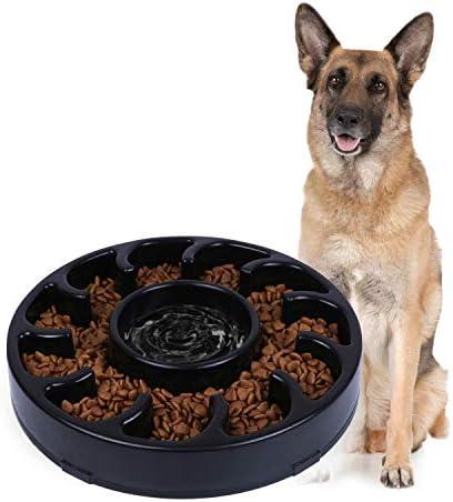 JASGOOD Slow Dog Bowl for Large Dogs Fun Bowl Slow Feeder Anti Gulping Dog Slow Feeder Stop product image