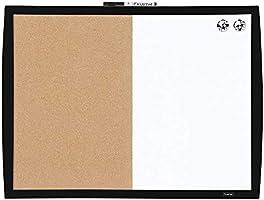 "Quartet Combination Magnetic Whiteboard & Corkboard, 17"" x 23"", Combo White Board & Cork Board, Curved Frame, Perfect..."