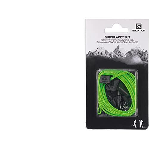 Salomon Quicklace Kit, Set di Lacci Per Scarpe, Semplifica la Calzata e Sfilamento, Verde, L32667700