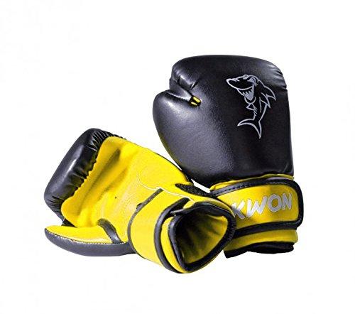 Kwon Kinder Boxhandschuhe Mini Shark, Farbe:Schwarz-Gelb;Gewicht:4 oz