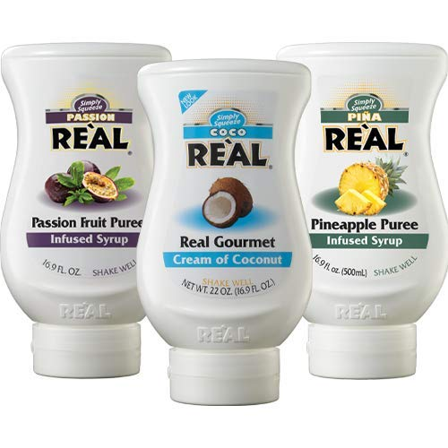 Real Fun in the Sun Essentials Variety Pack: Coco Real, Pina Real, and Passion Real (Pack of 3, 16.9 FL OZ Bottles)