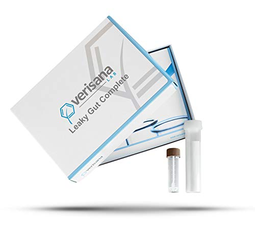 Leaky Gut Complete Stool Test – Determine Leaky Gut Syndrome, Candida & Gut Flora Imbalances – Measures Secretory IGA & Zonulin