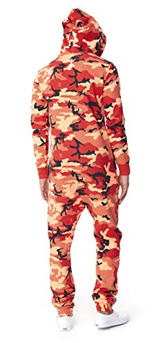 OnePiece Damen Unisex Logo Camo Jumpsuit, Rot (Red), Small - 2