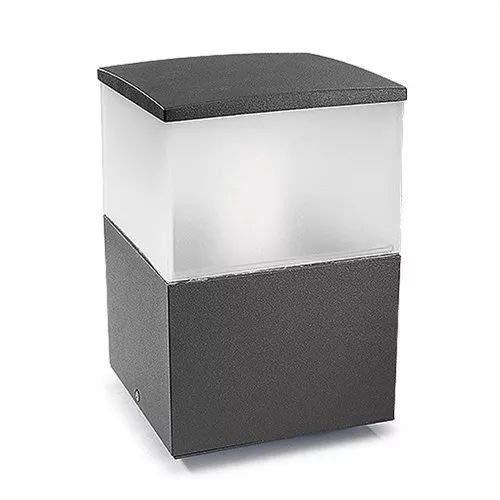 OUTDOOR Leds C4 Cubik - Cubo de luz para Exteriores (plástico Pulido), Color Gris
