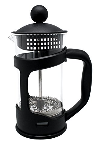 Nerthus French Press Coffee Maker Macchina per Caffè Francese a Stantuffo, Nero, 800 Ml