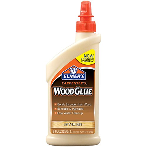 Elmer's E7010 Carpenter's Wood Glue, Interior, 8 Ounces