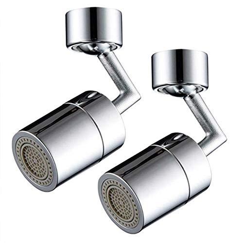 Exanko 2 Piezas Giratorio Universal Filtro Grifo Purificador de Agua Extensor de Grifo Tipo Universal