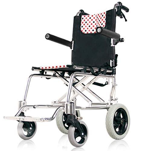 W-SHTAO L-WSWS Rollstühle, Leichtklapp Rollstuhl, Thick Aluminiumlegierung Rollstuhl zusammenklappbaren Leicht Ultra Light Old Man Trolley Old Man Scooter Portable Driving Medical FGK