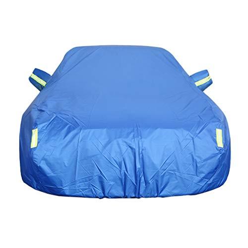 Autoabdeckung Auto Abdeckplane Kompatibel mit Nissan Qashqai Car Cover Vollgarage Auto Plane Staubdicht Auto Cover wasserdichte Auto Plane (Color : Blue, Size : Oxford Cloth - Built-in lint)