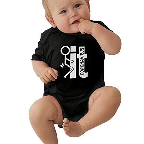 Shanion Fuck Coron-Avirus Baby Jersey Bodysuits Unisex Short Sleeve Sport Jersey 0-24 Months Black
