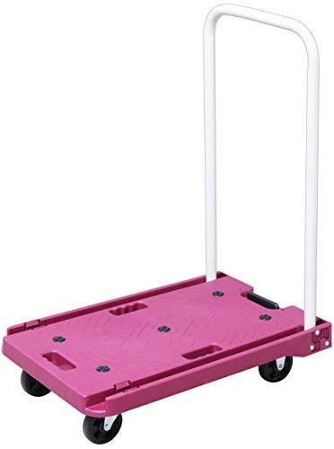 アイリスプラザ 台車 折りたたみ 軽量 静音 耐荷重 キャスター 150kg ピンク