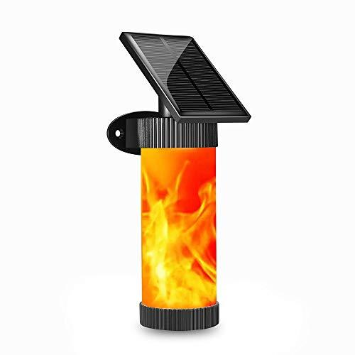 Led-wandlamp op zonne-energie, flikkering flame vuurlampen IP65 waterdicht op zonne-energie buiten landscap verlichting voor tuin decoratie LED