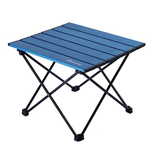Ecisi Ultraleichte tragbare Camping-Beistelltische mit Aluminium-Tischplatte, wetterfester, Fester Klapptisch mit Tragetasche für Picknick, Camp, Strand, Boot, leicht zu reinigen