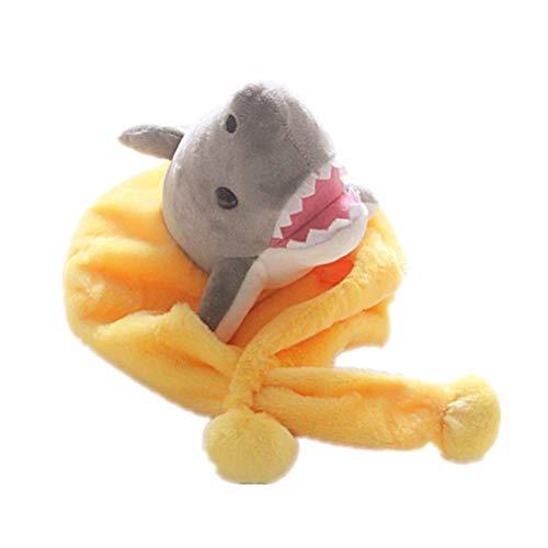 NUOBESTY Plüsch Hai Hut Halloween Kostüm Hut Mitbringsel Plüsch Hut mit Ohrenklappe für Kinder und Erwachsene