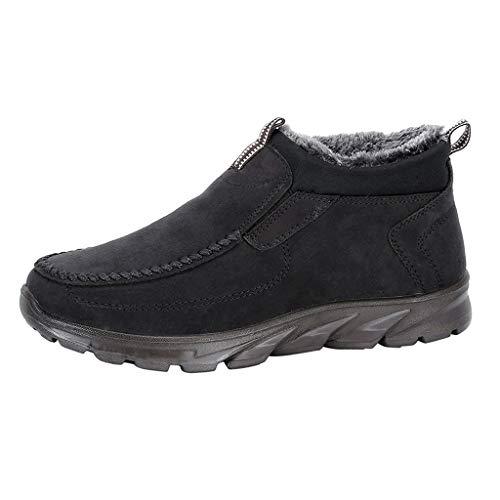acction Botas de Senderismo para Hombre Botas de Nieve Invierno Ante Calzado Zapatos de Ocio al Aire Libre y Deportes Zapatillas Antideslizantes cálido Confortables