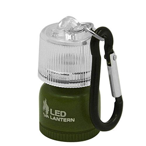 Beetest Lampe de poche LED mini lanterne lampe avec mousqueton pour Camping randonnée sac à dos d'urgence vert