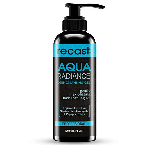 Recast Aqua Radiance Deep Cleansing Gel - Korean Beauty Style Product - Gently removes dead skin cells to reveal instant smoother and brighter complex, Gel to Scrub formula 200ml