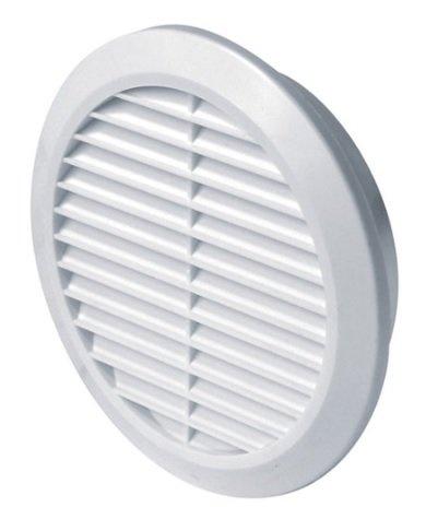 Grille de ventilation Ø 125 mm 12,5 cm rond blanc plastique Conclusion Grille d'aération avec moustiquaire pour extracteur T 32