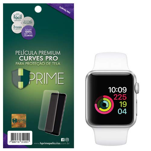 Pelicula Curves Pro para Apple Watch 38 mm - Series 1/2/3, HPrime, Película Protetora de Tela para Celular, Transparente