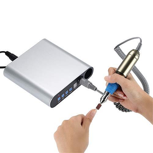 Perceuse à ongles - Perceuse à lime à ongles électrique portable, Kit professionnel pédicure manucure Machine polir pour enlever ongles acrylique, ongles gel, Soins qualité mains et pieds à domicile