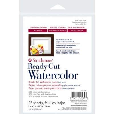 3 Pack 5' x 7' Hot Press Ready Cut Watercolor Sheet Pack (Product Catalog: Paper Media, Canvas & Surfaces)