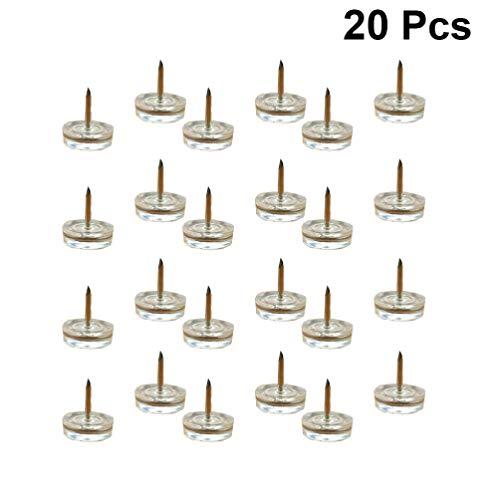 Vosarea 20 Pezzi mobili Sedia Scivolare ispessiti Metallo scivolosi scivoli Tavolo Divano Piano di Protezione Gamba Piedini per la Cucina di casa