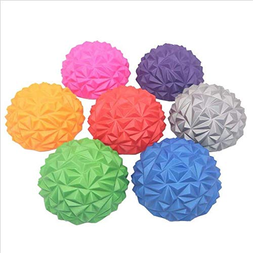 2PCS SensoPrism Foot Massage Ball Yoga Massager, Body Rolling Foot Wakers, Foot Massage Half Ball Balance Exercise Pods Spiky for Deep Tissue Foot Muscle Therapy,Random Color