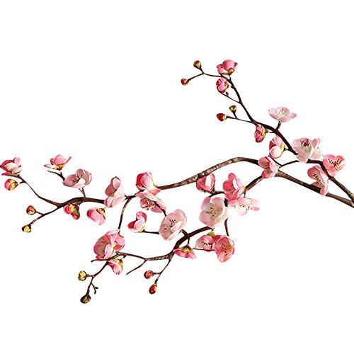 ToDIDAF 1 x Kunstblumen Orchidee Silk Kunstpflanze Künstliche Blumen Künstliche Pflanze Für Weihnachten Zuhause Wohnzimmer Schlafzimmer Hochzeit Garten Cafe Deko 120cm (Pfirsichblüten-Rosa)