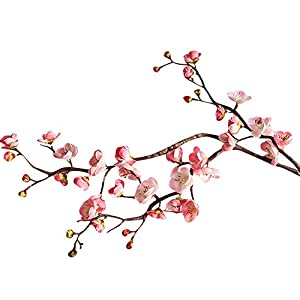 Glumes Artificial Cherry Blossom Flowers Fake Silk Plants Wedding Party Decoration Fake Real Touch Flowers for Wedding Bouquets Centerpieces Decor DIY Home Party