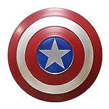 BCCDP 32cm/47cm/60cm Escudo Capitan America Metal 1: 1 Adulto Apoyos de Película Niños Hierro Forjado CapitáN AméRica Shield Vengadores Capitán América Disfraz de Metal Shield