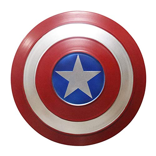 BCCDP 32cm/47cm/60cm Escudo Capitan America Metal 1: 1 Adulto Apoyos de Pelcula Nios Hierro Forjado CapitN AmRica Shield Vengadores Capitn Amrica Disfraz de Metal Shield