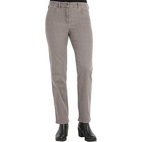 Zerres Damen Jeans CORA Straight Fit Comfort S Stretch, Größe:44;Farbe:18 Taupe