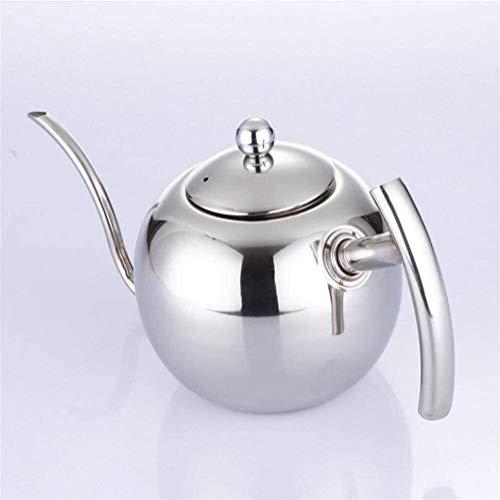 Bouilloire induction Slinger Pot Punch Pot De Cafe De Coffre Collasse En Acier Inoxydable Théière Théière Pot De Pot De Col de longue durée Argent Pour Home Bureau WHLONG
