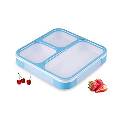 3-compartment Lunch Bento Box Container Leakproof Dishwasher Microwave Safe Fresh Separated Function Material Durable Picnics Food Storage Restaurants Take Away