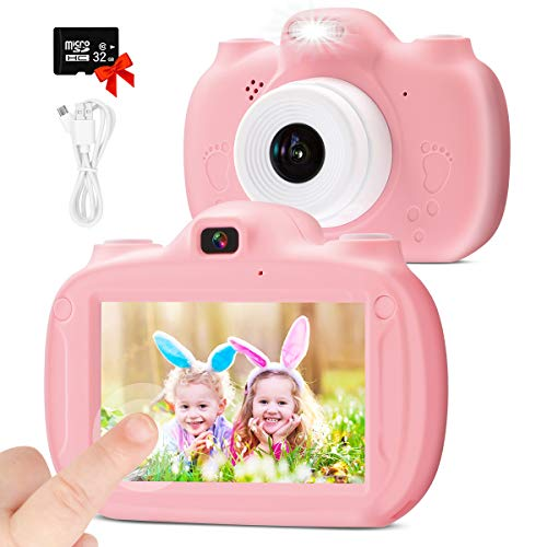 Upgrade Kids Camera 28 MP Digital Dual - 3.0' IPS HD 1080P Touch Screen...