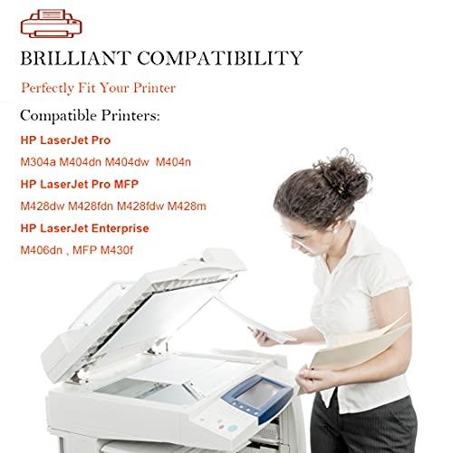 Aseker Compatible 59A CF259A Tóner Cartucho para HP M406 M406dn, Pro M404 M404n M404dn M404dw M304a, MFP M428 M428dw M428fdn M428fdw M428m M430f Impresora, 3,000 Páginas (2Negro, Sin Chip)