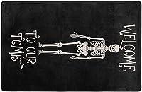 秋のハロウィーンスカルガーデンスーパーソフトインドアモダンエリアラグふわふわラグダイニングルームホームベッドルームカーペットフロアマットベビーキッズドッグ用猫80x58インチ-80x58インチ
