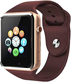 Welrock A1 Bluetooth Smart Watch Compatible with All Android & iOS Smart Phones, Devices with Sim Card Slot  Memory Card  Touch Display  Inbuilt Camera for Men Women & Kids (Gold)