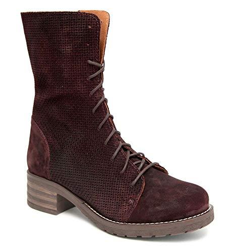 Brako Stiefel Boots 8470 Tina Abey Military Burdeos weinrot Nubuk Leder NEU (Numeric_43)