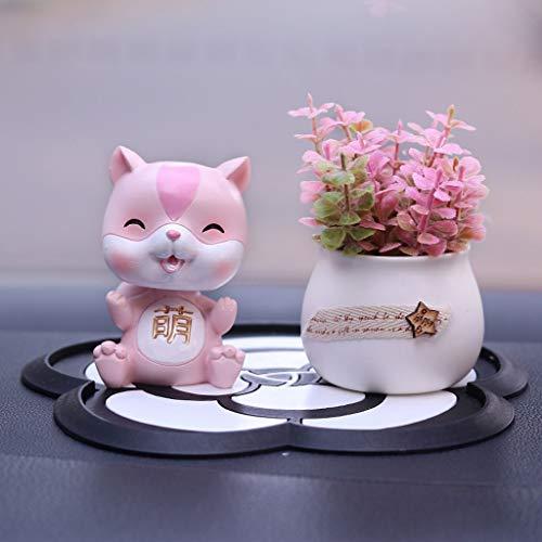 CKH auto ornamenten schattige hars kleine kat en bloempot auto decoratie creatieve huis decoraties geschenk