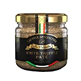 La Rustichella White Truffle Butter - Truffle Sauce with Porcini White Mushrooms - Made in Italy White Truffle Sauce - Kosher and Gluten-Free White Truffle Paté (3.2 oz)