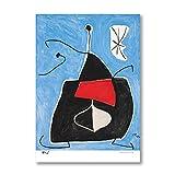 HNZKly André Breton & Joan Miró Póster Abstracto Cuadros Arte Impresiones Español Surrealista Pintor Lienzo Póster Surrealismo Pared Arte Decoracion 50x70cm / Sin Marco-4 Art