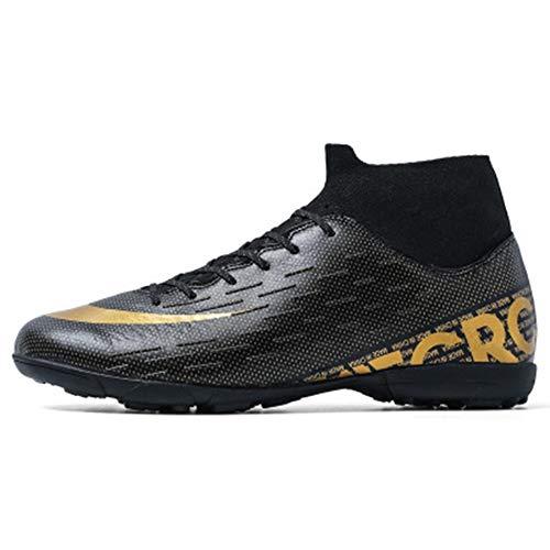 Botas de fútbol, Zapatos de fútbol de caña Alta Zapatos de Entrenamiento de césped Artificial Antideslizante para jóvenes con uñas AG para Hombres