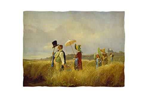 fotobar!style Fleecedecke Mini ca. 90 x 65 cm Carl Spitzweg - Der Sonntagsspaziergang. 1841