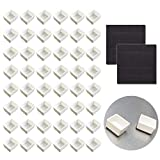 Watercolor Half Pans with Magnetic Stripe - 48Pcs White Plastic Empty Artist Paint Pan Kits for DIY Watercolor Oils or Acrylics Painting Travel Tin Case Palette Art Drawing qianshan