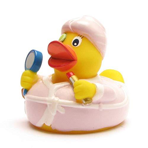 Duckshop I Badeente I Quietscheente I Beauty Ente - L: 7,5 cm - inkl. Badeenten-Schlüsselanhänger im Set