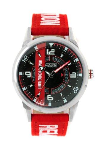 Reloj Aviador correa nylon roja esf. neg
