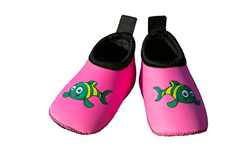 Swim Buddies Baby Swim Shoes - The BEST WATER SHOES for Beach, Pool, Lake - Toddler Aqua Socks - Lightweight & Durable Swimming Shoes (Pink, S (6-12 months, sole length 4.5 inches))