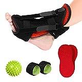 Healifty Plantar Fasciitis Night Splint- Foot Arch Supports, Massage Ball- Foot Brace, Foot Pain Relief Boot Sock Adjustable Support, Sleeping Immobilizer Stabilizer