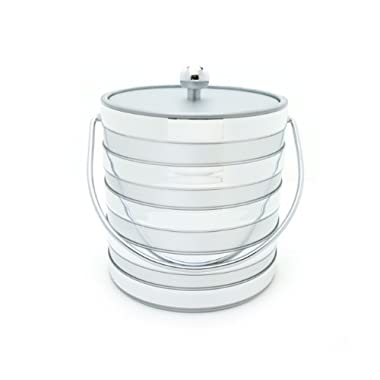 Mr. Ice Bucket Barrel 3-Quart Ice Bucket, Silver